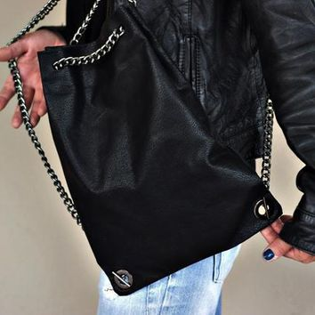 Black leather backpacks, Drawstring backpack, women leather drawstring, original backpack, drawstring bag, backpack purse, soft leather bag