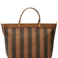 "Some of you have to get in on this: FENDI ""Pequin"" Large Canvas Convertible Shopper"