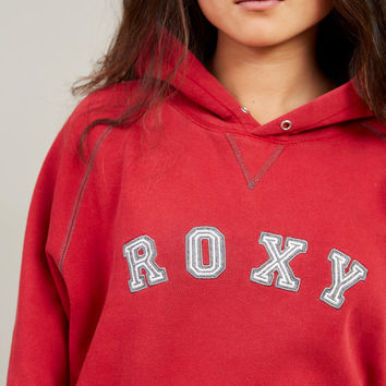 1990s Roxy Quicksilver Deep Red Hoodie • L