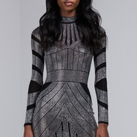 AKIRA Sexy Sequin Bodycon Dress with Long Sleeves in Black. Are you ready for NYE?