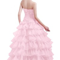 Emma Y Lady Women's Princess Style Ball Gown Quincenera Dress
