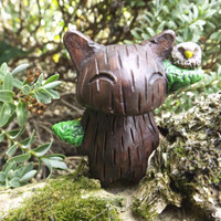 The Tree Cat  A Handmade Polymer Clay and Resin Collectable Figure (B)