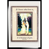If I Know What Love Is Copper & Glass Photo Frame