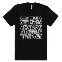 Punch In The Face-Unisex Black T-Shirt