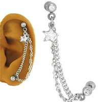 Ear Cartilage Piercing Jewelry Star 16G