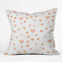 Hello Twiggs Do All Things With Love Throw Pillow