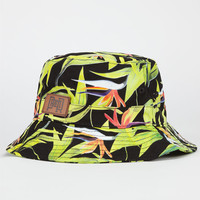 Premier Fits Birds Of Paradise Mens Bucket Hat Black Combo One Size For Men 24686814901