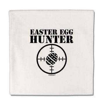 """Easter Egg Hunter Black and White Micro Fleece 14""""x14"""" Pillow Sham by TooLoud"""