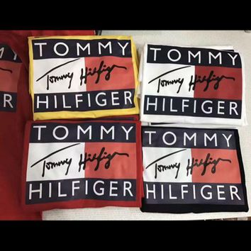 ONETOW Tommy Hilfiger Tommy men and women classic tee shirt T-shirt