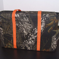 Tote/Diaper Bag in Mossy Oak Camo Print (Monogramming additional charge)