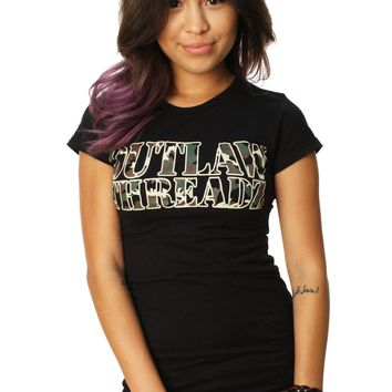 Outlaw Threadz Women's Camo Graphic T-Shirt