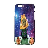 Pizza Cat Plastic Phone Case for Iphone 6