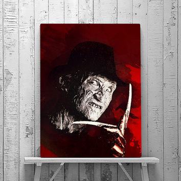 Freddy Krueger, Freddy Art, Nightmare on Elm Street, Freddy Print, Wall art Poster