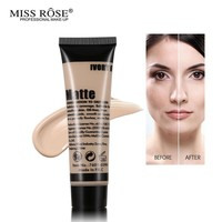 Miss Rose Professional Base Liquid Foundation Makeup Long-Lasting Coverage Smooth Primer Concealer Oil-control Brighten Matte