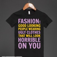 Pretty People Ugly Clothes-Female Black T-Shirt
