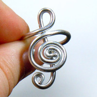 Treble Clef Adjustable Ring