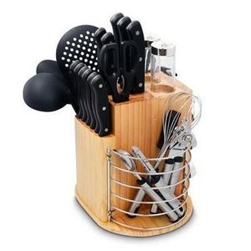 Pl 31pc Carousel Knife Set Blk