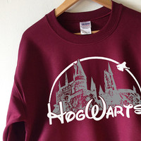 HOGWARTS Sweatshirt Harry Potter Sweater - High Quality SCREEN PRINT Super Soft fleece lined unisex Ladies Sizes - Worldwide Shipping S-2xl