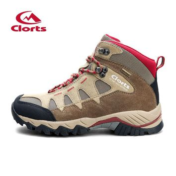 Clorts Hiking Shoes Trekking Camping Climbing Outdoor Shoes  Waterproof Suede Leather Men Outdoor Boots Winter Sneaker HKM-823B
