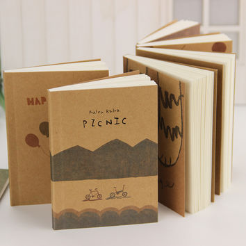 12.5*9cm Lovely Old Paiting Notebook Stationery Daily Notes Office School Supplies 1 pcs