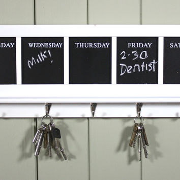 Weekly Chalkboard Memo Coat Rack