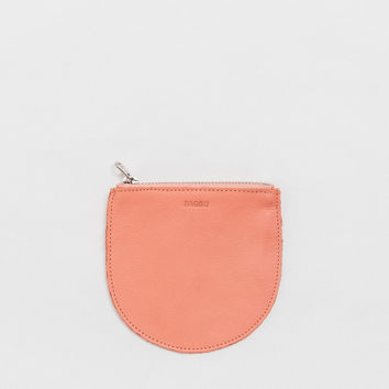 Small Leather Pocket Pouch Melon