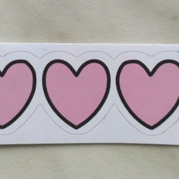 Vinyl Sticker #4.  Hearts sticker. Tumblr vinyl stickers, Vinyl Decal, Laptop Vinyl Stickers, Fun Stickers.