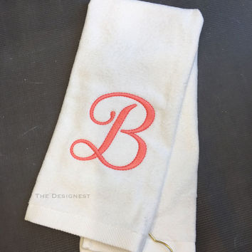 Monogrammed Golf Towel, Gift for Mom, Golf Gift, Embroidered Golf Towels, Golf Towels, Golf Towel, Golf Gifts for Women