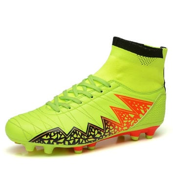 Joomra Men High Ankle Football Boots Professional Men's Turf Soccer Cleats Teenagers Athletic Sneakers Soccer Trainning Shoes