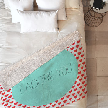 Allyson Johnson I Adore You Fleece Throw Blanket
