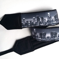 Los Angelos Downtown Skyline Camera Strap. Camera Accessories