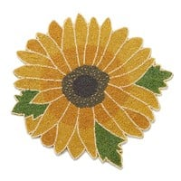 Harvest Sunflower Beaded Placemat (Yellow)
