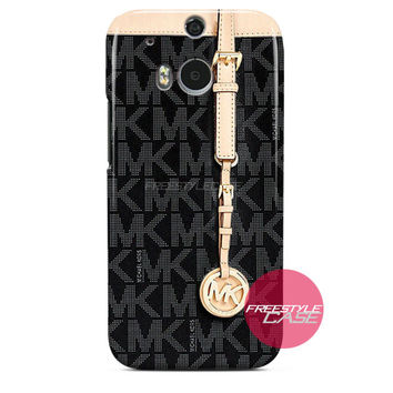 Michael Kors MK Bag Black Gold HTC One Case M8 M7 One X Cover
