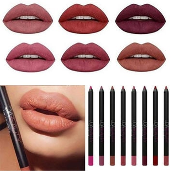 9 Color Sexy Matte Long lasting Lip Liner For Makeup Lip Contour Makeup Tool