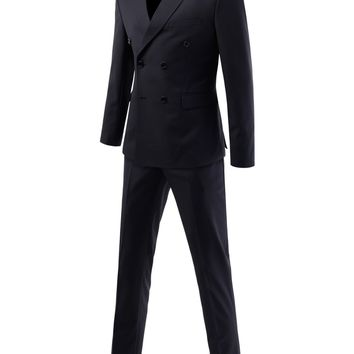 Blueprint Couture | Men's slim fit peaked lapel double breasted suit