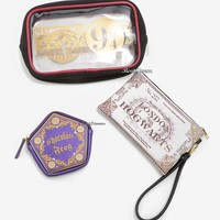 Licensed cool Harry Potter 3 Piece Hogwarts Express 9 3/4 Cosmetic Makeup Toiletry Bag Set NWT