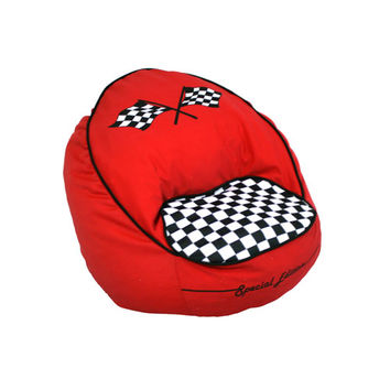 Komfy Kings, Inc 60014 Race Car Bean Chair Red