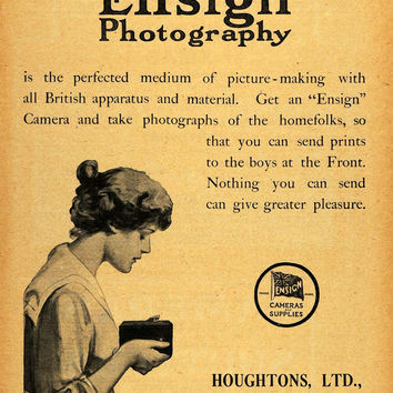 1918 Ad Ensign Photography Camera Film Equipment Houghtons High Holborn AMP1