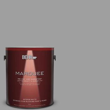 BEHR MARQUEE 1 gal. #PPU26-06 Elemental Gray Matte Interior Paint-145401 - The Home Depot