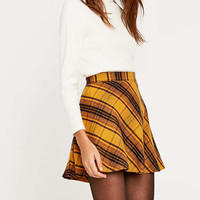 Urban Outfitters Yellow Bias Plaid Skirt - Urban Outfitters