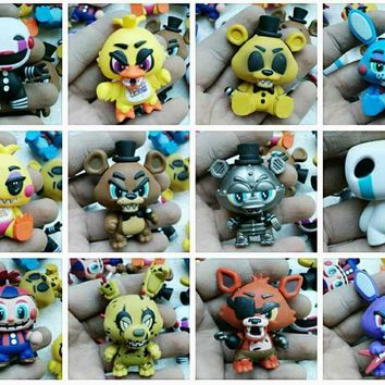 Original imperfect Funko Mystery Minis: Midnight Five Nights at Freddy Bear Vinyl Action Figure Collectible Model Loose Toy