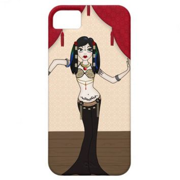 Gothic Tribal Fusion Bellydancer in Stage Scene iPhone 5 Covers by ArtformTheHeart