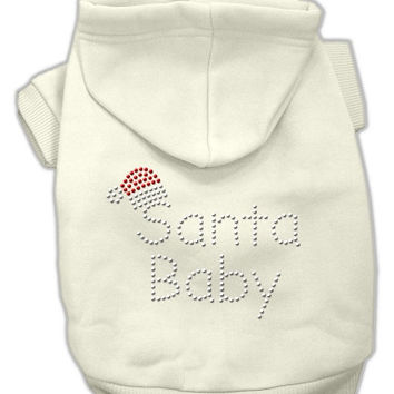 Santa Baby Dog Hoodie Cream/Medium