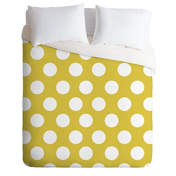 Allyson Johnson Brightest Chartreuse Duvet Cover