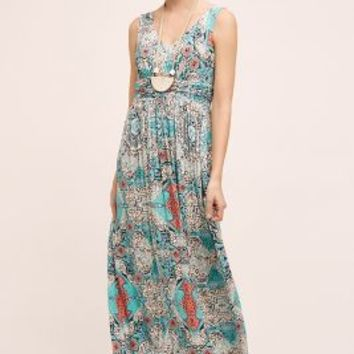 Plenty by Tracy Reese Medallion Maxi Dress in Blue Motif Size: