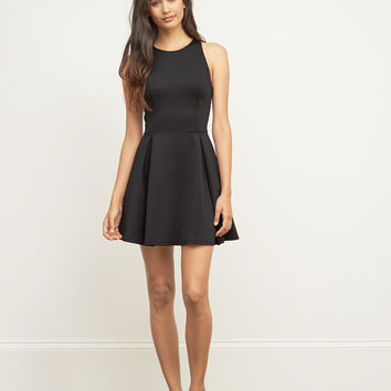 Neoprene High Neck Skater Dress