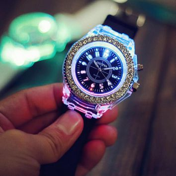 light up watch simple style watches gift 502  number 1