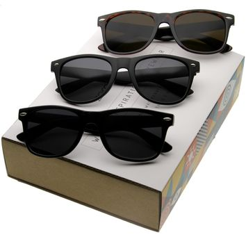 Retro Classic Wide Frame Horned Rim Sunglasses C041 [Promo Box]