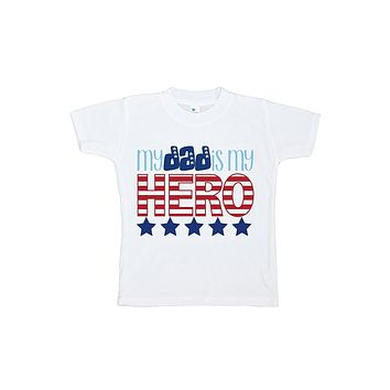 Custom Party Shop Kid's Daddy is My Hero 4th of July T-shirt