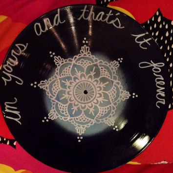 "THE AVETT BROTHERS inspired ""i'm yours and that's it forever"" vinyl record"